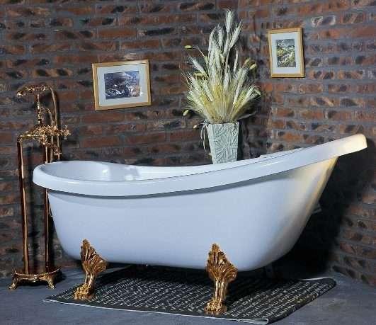 Фото ванн из литьевого мрамора на львиных лапах