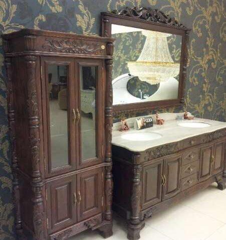 Пенал в ванную комнату напольный недорого GODI, мебель в ванную