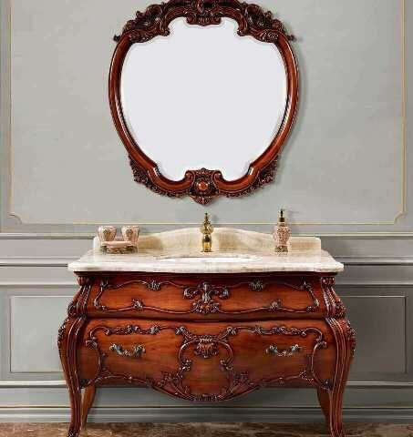 Мебель для ванной барокко, модель CL - 1271, классические комплекты