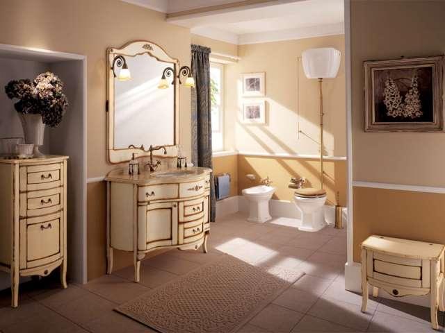 Фото классической ванной мебели: