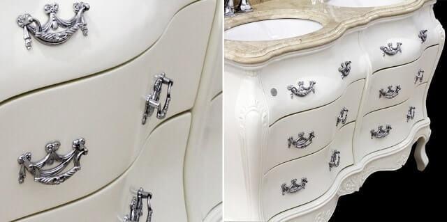 классическая тумба с раковиной для ванной комнаты