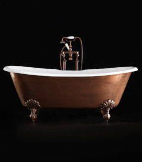 Ванна чугунная отдельностоящая на ножках