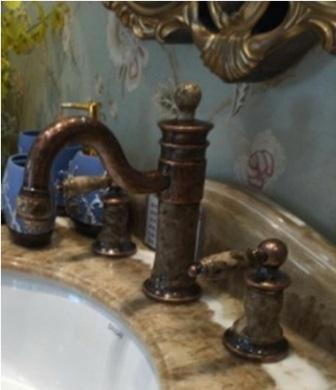 смесители в ванную комнату, встраиваемые в классическую столешницу