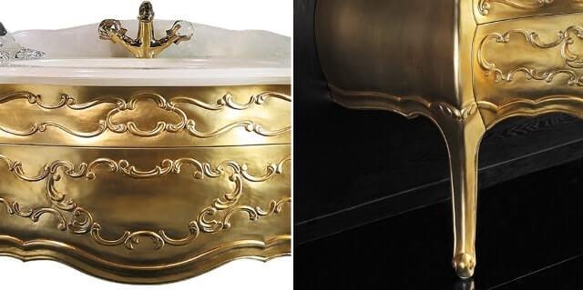 золотая тумба в ванную Годи XZ2 в интернет магазине https://www.rodecs.com.ua/