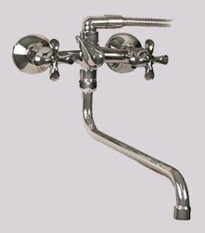 Двухвентильный смеситель в ванную SHRUDER KNIGHT MV1505B-SS