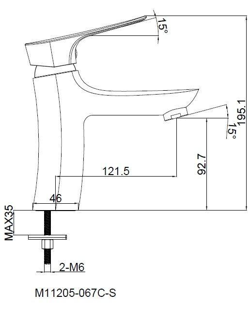 Однорычажный смеситель для раковины SHRUDER KELN MR8006W