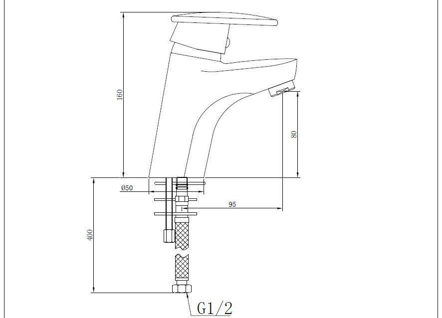 Смеситель для раковины, хром - SHRUDER JASMINE MK2006W