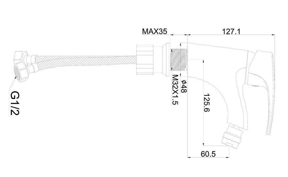Shruder DELIS MR5007W смеситель для биде