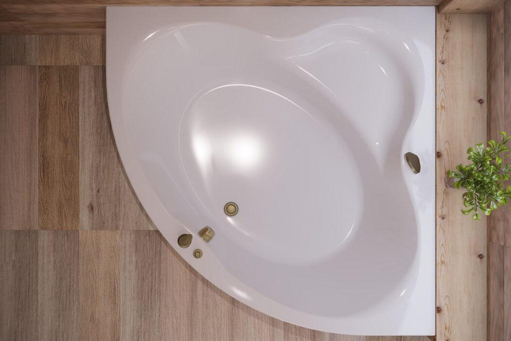 Угловая гидромассажная ванна Garda WGT