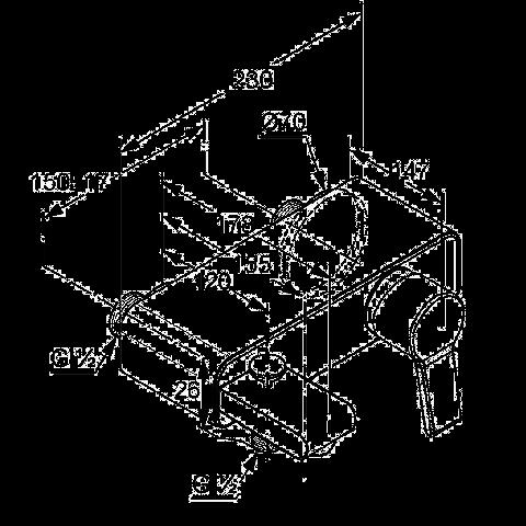Чертеж и размеры смесителя Клуди Оушн (387700575)