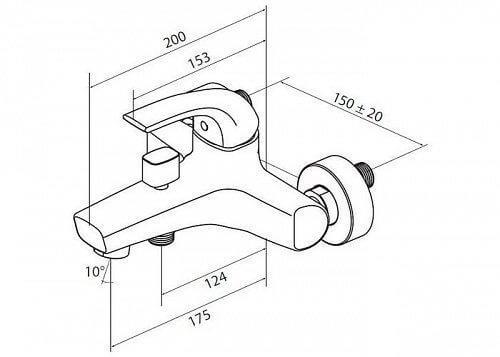 Стильный хромированный смеситель для умывальника с керамическим картриджем Sense F7510000