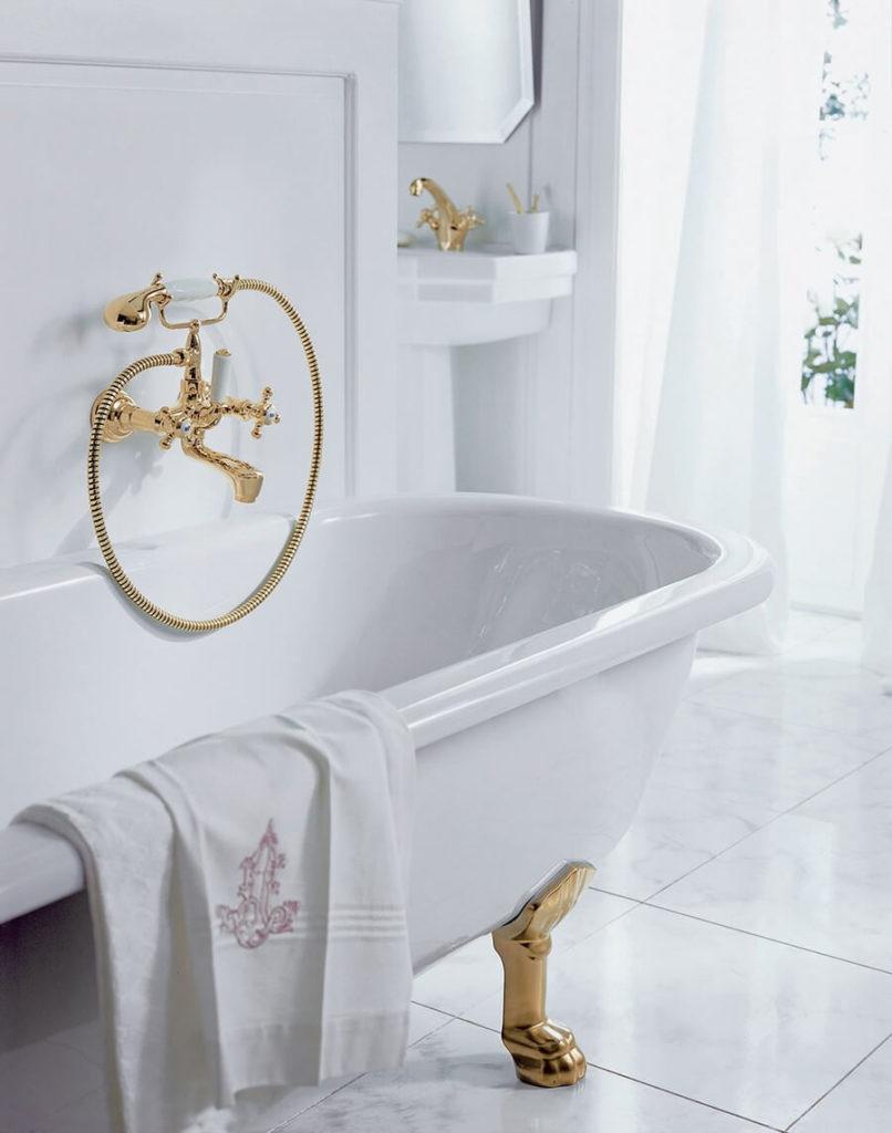 Смеситель для ванной в классическом стиле - Kludi Adlon (514410520)