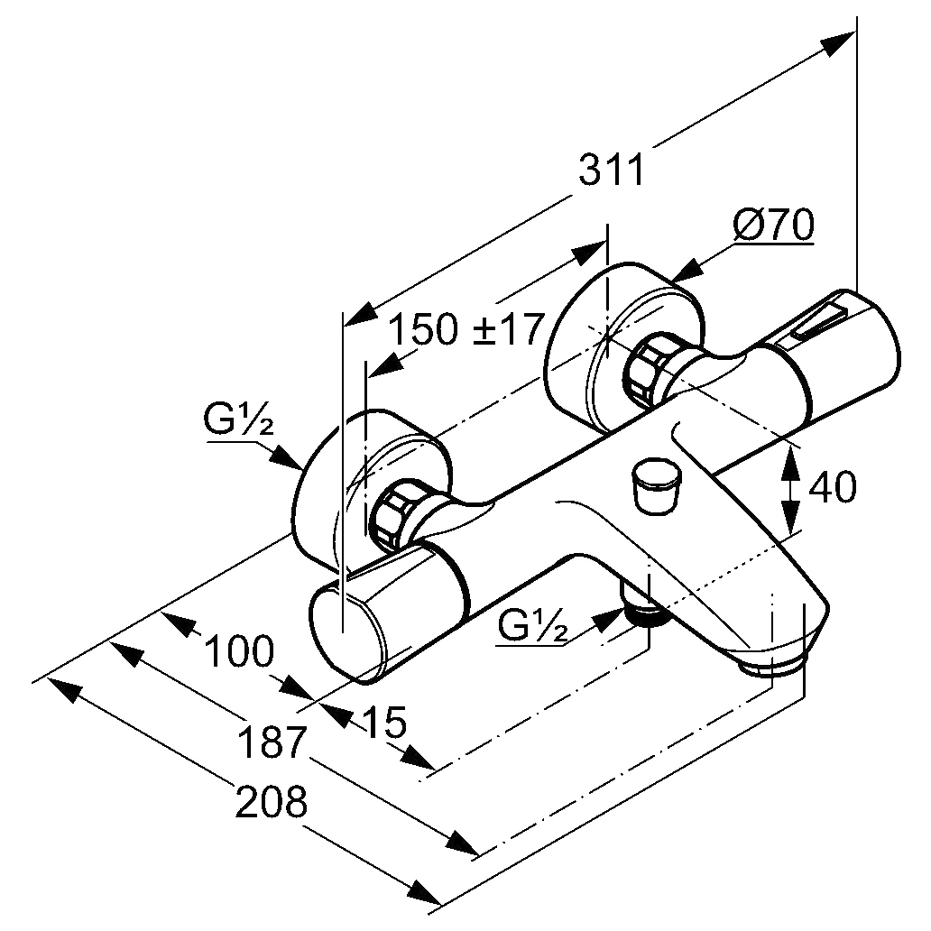 Чертеж Kludi Zenta (351010538)
