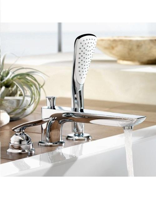 Качественный смеситель для ванны Kludi Balance, врезной кран на 3 отверстия   www.rodecs.com.ua