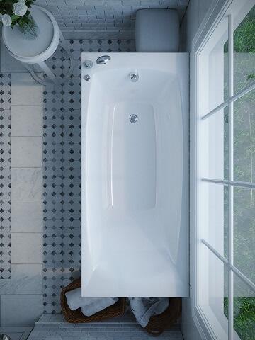 Итальянская акриловая ванна WGT Lido с гидромассажем, в Киеве