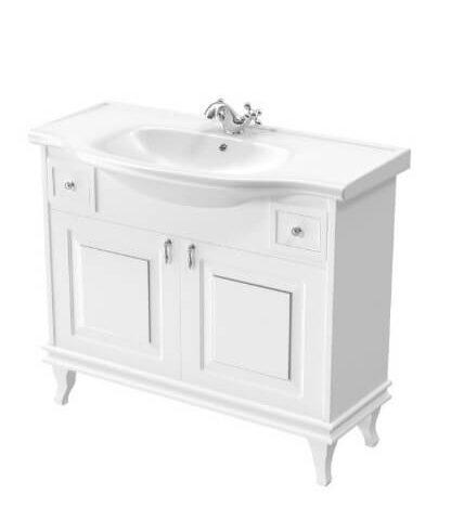 Тумба для ванной комнаты с раковиной Беатриче 100см белая Патина