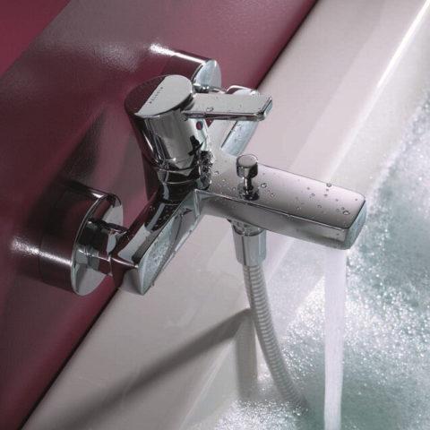 Kludi Zenta смеситель для ванной с душем, с коротким изливом, купить | www.rodecs.com.ua