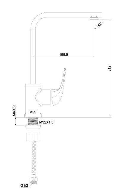 Кухонный смеситель SHRUDER Bern MR7011
