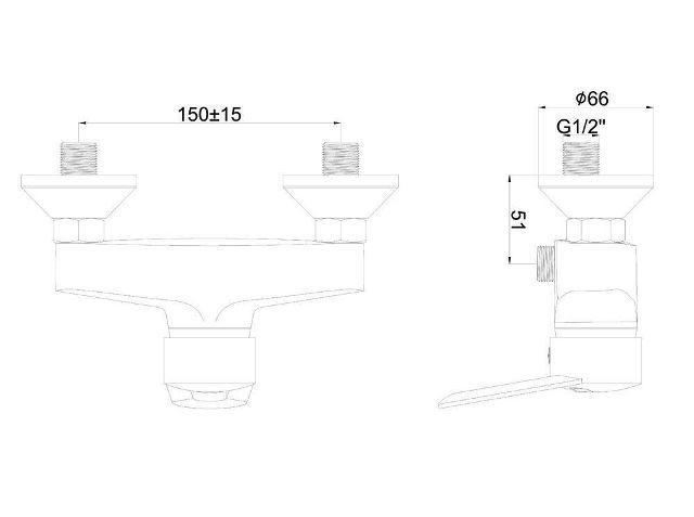 Однорычажный смеситель для душа SHRUDER Delis MR5003