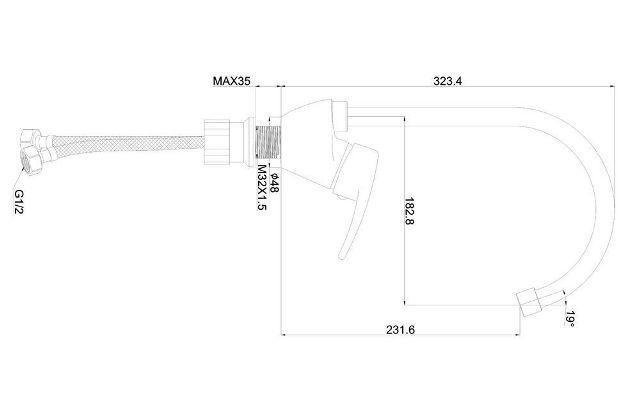 SHRUDER FLEUR ML2100 - однорычажный кухонный смеситель