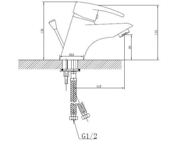 Стационарный смеситель для раковины и умывальника SHRUDER FLEUR ML2006W