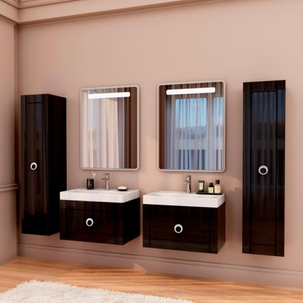 Комплект для ванной комнаты на два умывальника Charlottae (Marsan)