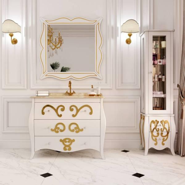 Гарнитур в ванную комнату с раковиной и зеркалом - Arlette (Marsan)