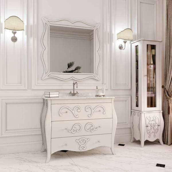 Гарнитур в ванную комнату в классическом стиле с раковиной и зеркалом - Arlette (Marsan)