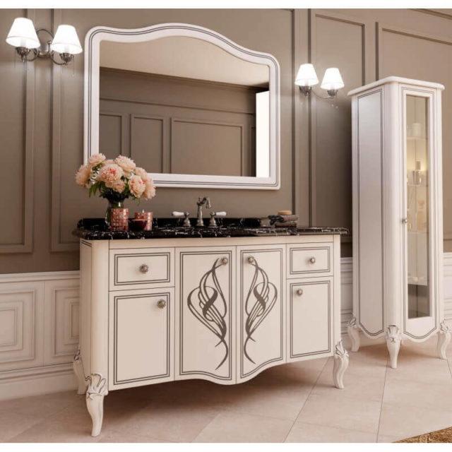 Тумба в ванную комнату с раковиной и зеркалом - Melissa (Marsan), купить