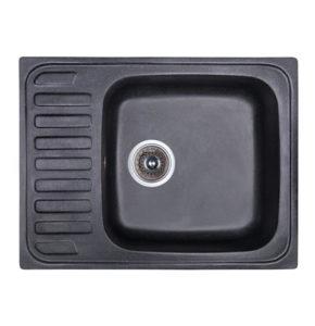 Мойка для кухни из гранита Fosto 64x49 SGA-420 (черный) (14023), купить в Киеве