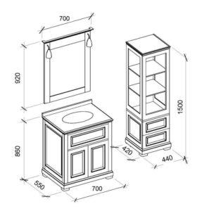 Комплект мебели Дезаер (DESIREE Marsan)