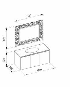 Комплект шикарной мебели для ванной в чертежах, Penelope Marsan