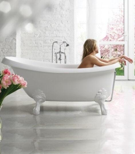 Ванна из литого камня Victoria 1700x830x730, купить в Киеве, интернет-магазин Родекс