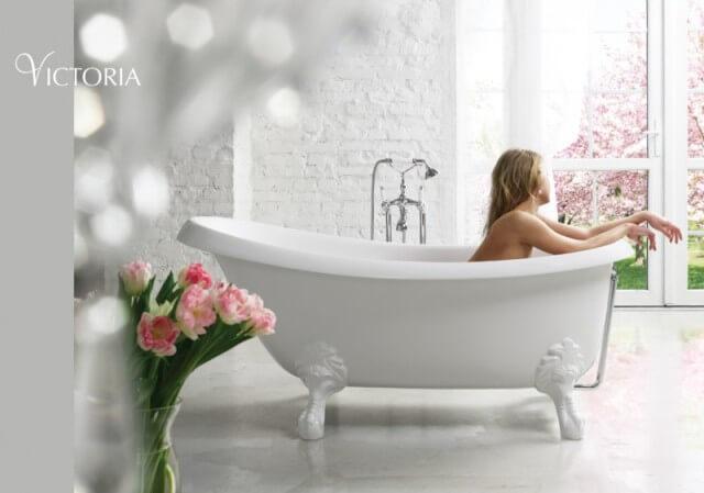 Качественная европейская ванна на ножках Виктория