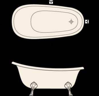 размеры и чертежи акриловой ванны Виктория