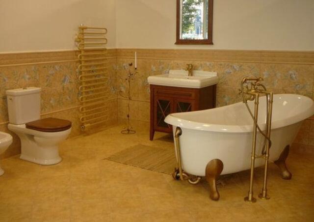 Акриловая ванна на лапах Виктория