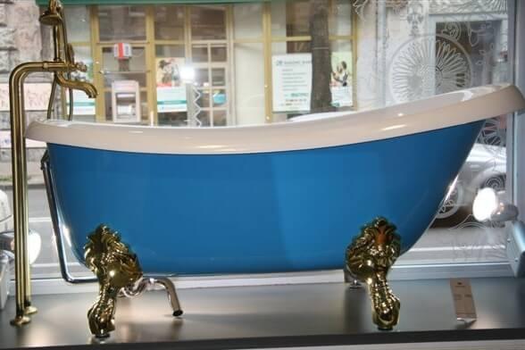 Купить ванную из литого камня Victoria 1700x830x730, в Киеве, интернет-магазин Родекс