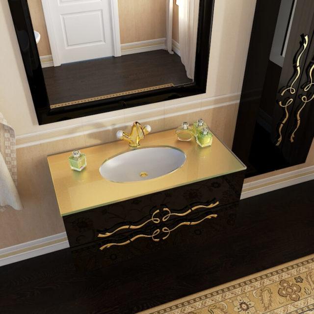 Роскошный комплект в ванную Доминика Марсан