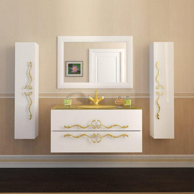Купить подвесной гарнитур для ванной конматы Доминик Марсан