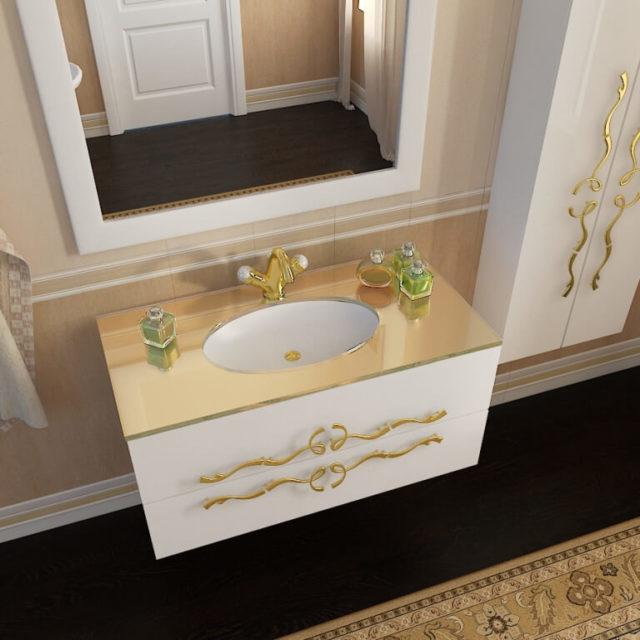 Классический гарнитур для ванной комнаты Марсан Dominik