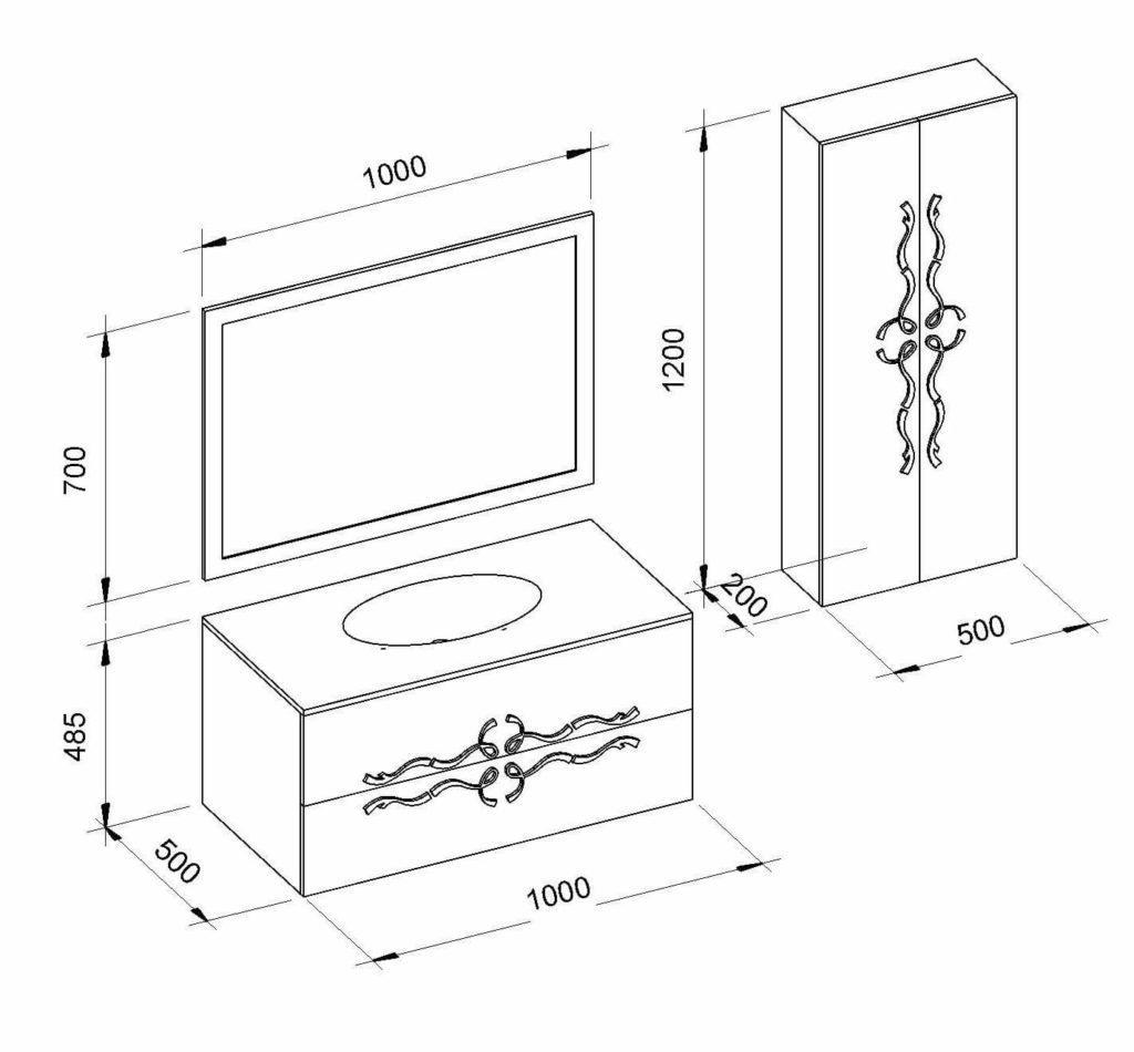 схематическое изображение комплекта мебели Доминик (Dominik) Marsan