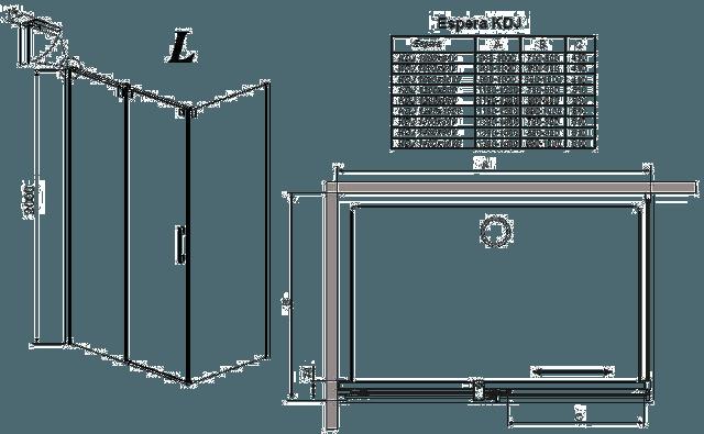 Схема и чертежи душевого поддона Радавей