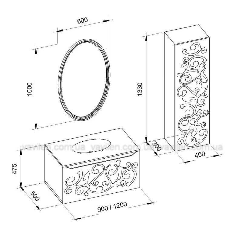 Роскошная мебель в ванную комнату Марсель Марсан