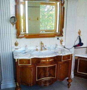 Мебель в ванную комнату - классика, купить ретро комплект в ванну на заказ