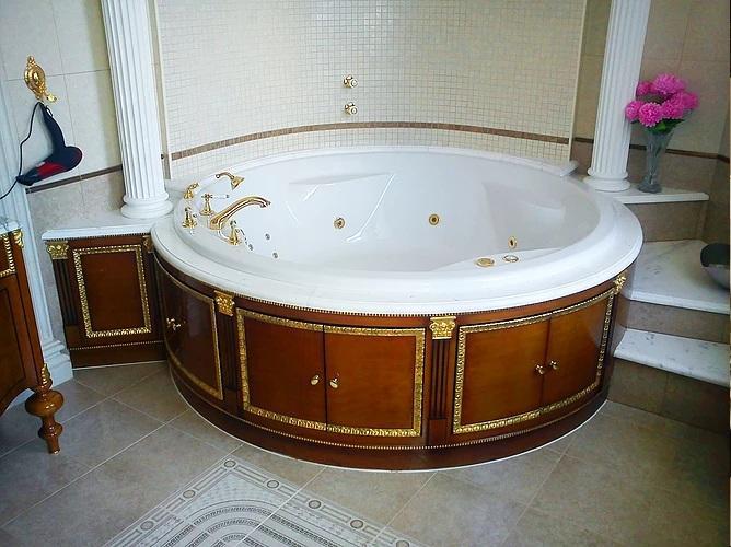 Красивая ванная в ореховом цвете. Нерпевзойдённая классика