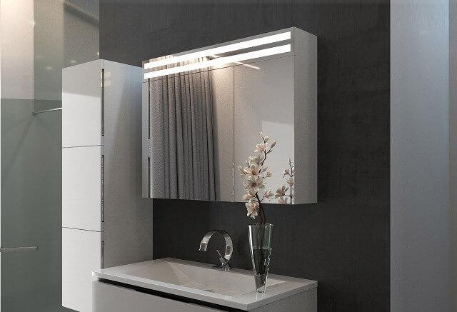 купить шкафчик с зеркалом в ванную комнату