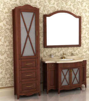 Мебель для ванной в стиле ретро, купить в Киеве комплект Аква ТМ Ваші Меблі