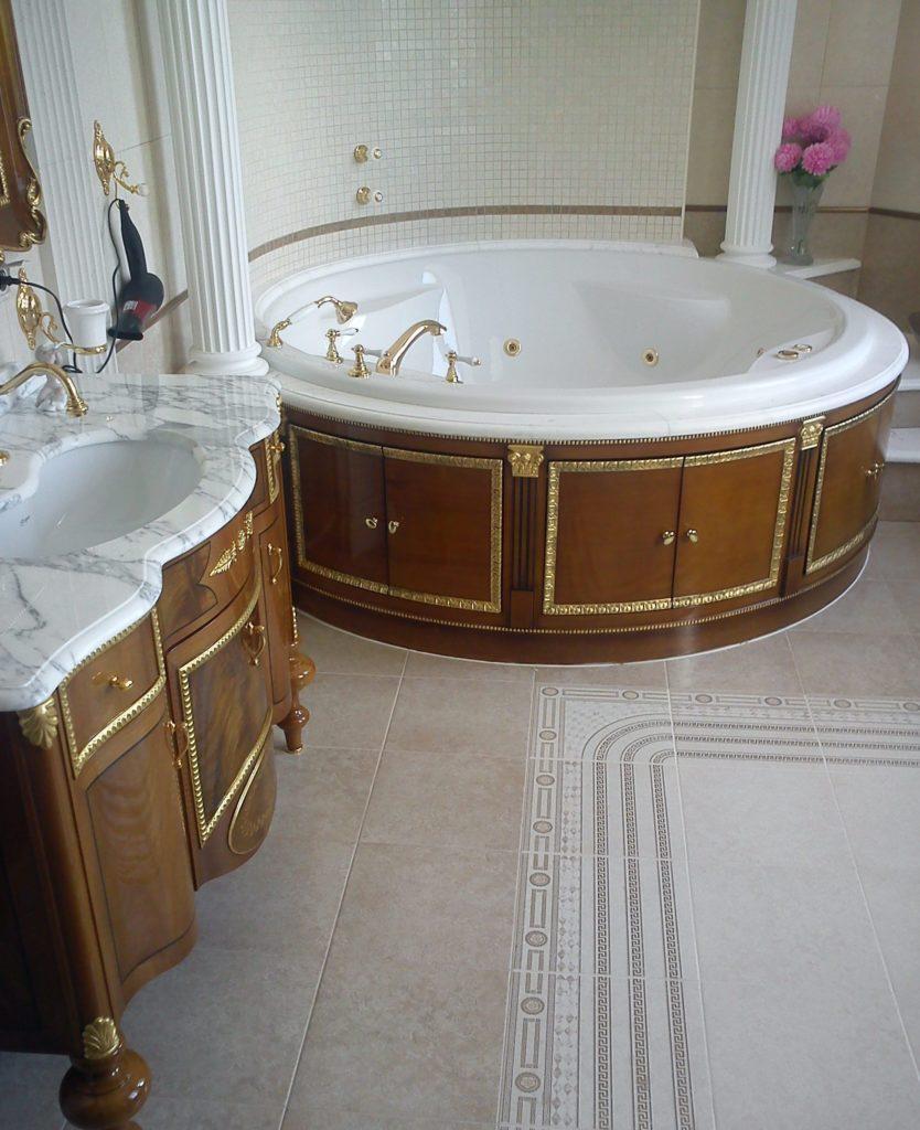 Ретро дизайн ванной комнаты