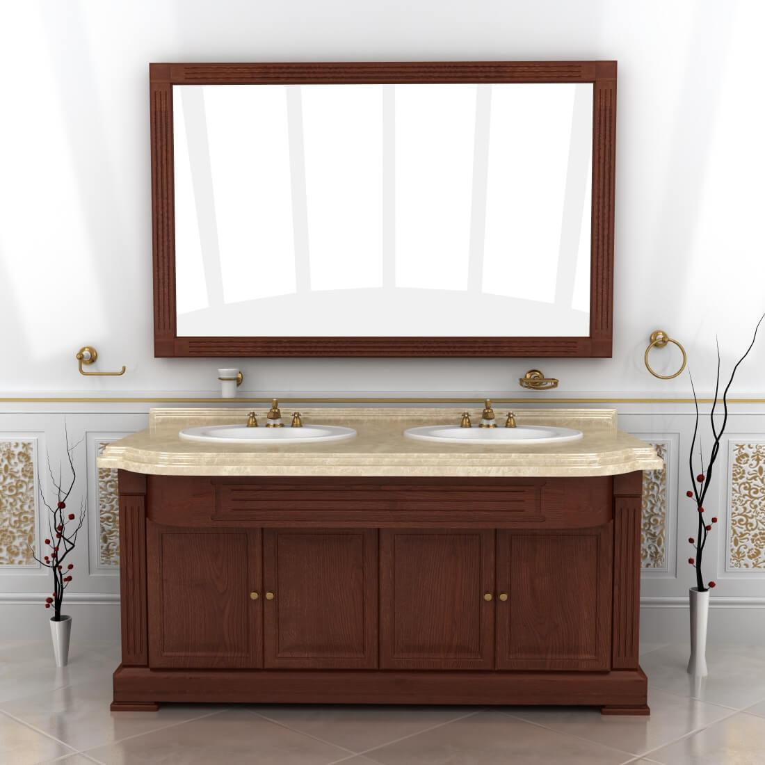 тумбы с зеркалом в ванную Ваші Меблі серия Мрамор