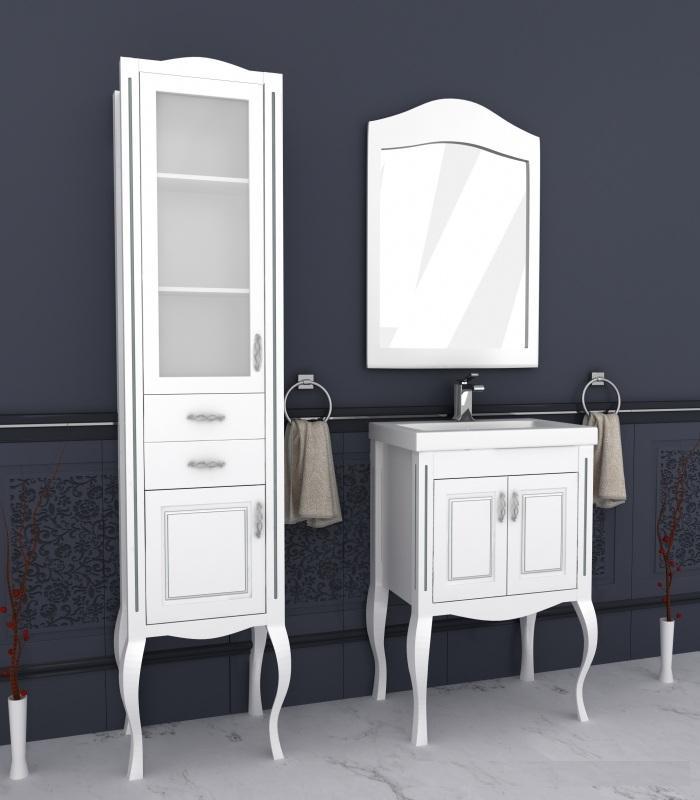 тумба на ножках с зеркалом в ванную Ваші Меблі серия Комо